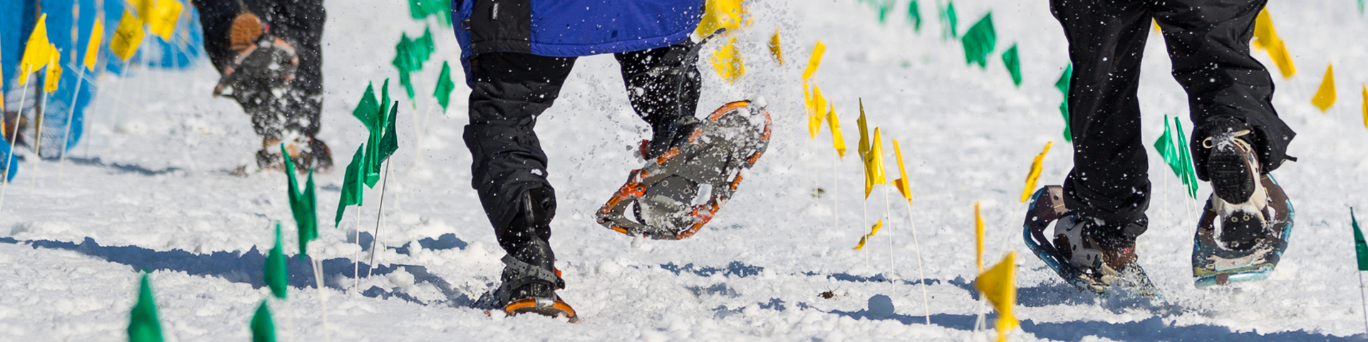 special olympics snowshoeing